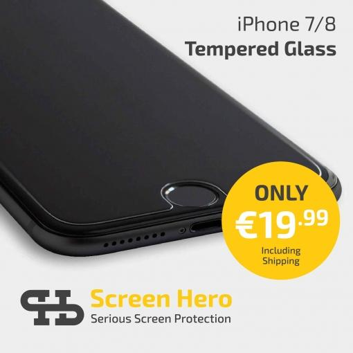 iPhone 8 / 7 / 6 Tempered Glass Screen Protector from Screen Hero - ScreenHero_ie