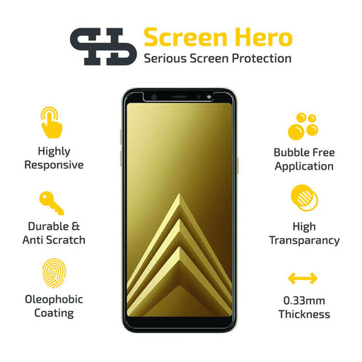 Samsung Galaxy A6 2018 Tempered Glass Screen Protector from Screen Hero - ScreenHero_ie