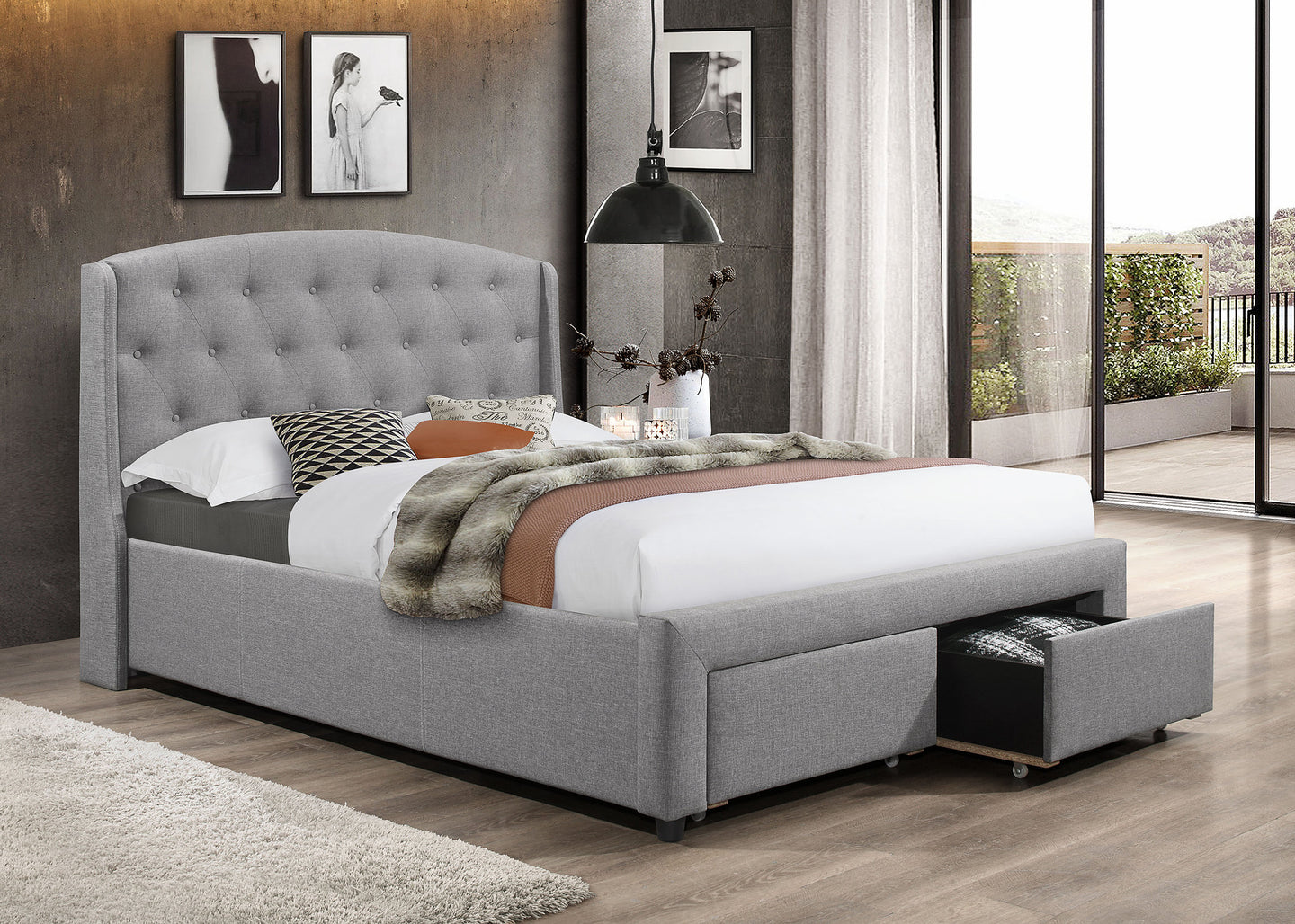 Platform Bed With Storage IF5290