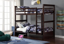 Load image into Gallery viewer, SINGLE/SINGLE SOLID WOOD BUNK BED