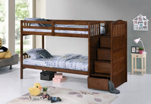 Load image into Gallery viewer, Single over Single Bunk Bed With Stairs Comes With Double On Bottom Option