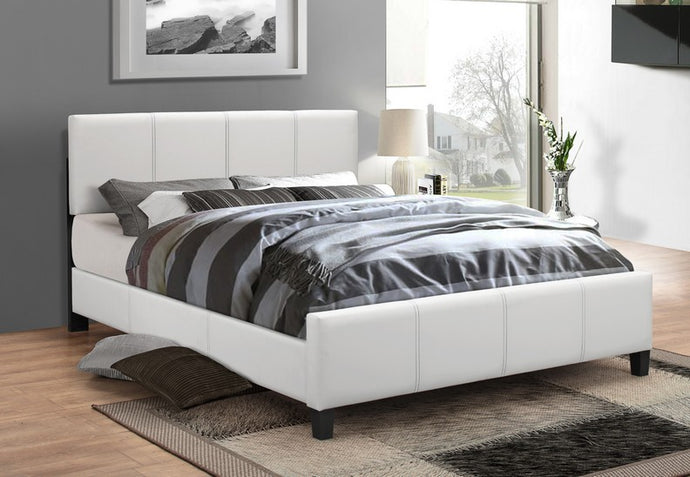 Platform Bed White Finish