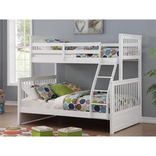 Load image into Gallery viewer, SOLID WOOD SINGLE OVER DOUBLE BUNK BED FRAME