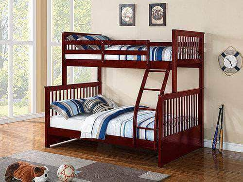 SOLID WOOD SINGLE OVER DOUBLE BUNK BED FRAME
