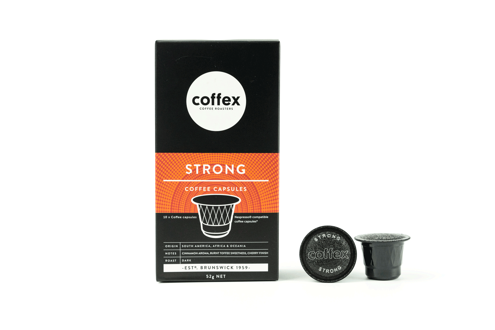 Coffex Nespresso® Compatible Capsules Strong