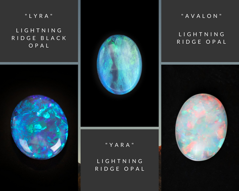 Lightning Ridge Opals from the Staghead Mine