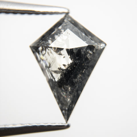 Kite rosecut salt and pepper diamond with beautiful dark inclusions from the Staghead Mine