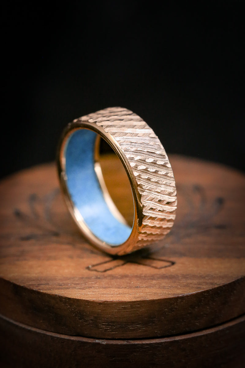 Turquoise Men's Wedding Band - Rugged Wedding Ring - Staghead Designs