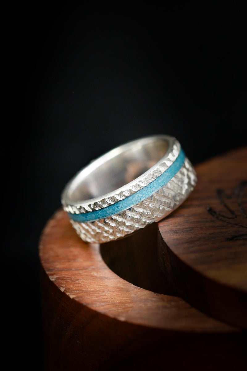 Custom Turquoise Wedding Ring in Silver  - Staghead Designs
