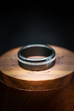 Elk Ivory Wedding Band - Black Wedding Ring - Staghead Designs