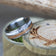 WHISKEY BARREL OAK AND ANTLER WEDDING BAND (fully customizable)