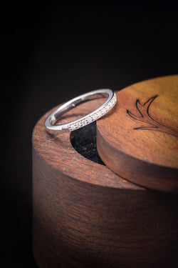 14K Gold Wedding Band With Diamond Accents - Staghead Designs