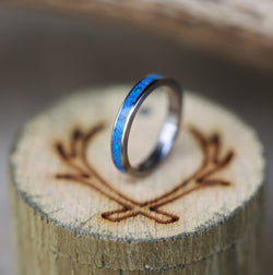 OPAL STACKING WEDDING BANDS (available in red, blue, and white opal) - Staghead Designs - Antler Rings By Staghead Designs