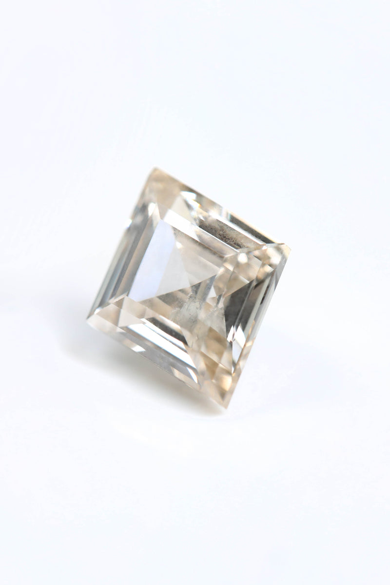 "NEW - ""GWENIVERE"" Step Cut Champagne Diamond (GIA Certified)"