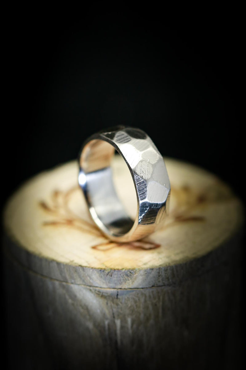 14K GOLD BAND WITH FACETED & RAW FINISH (fully customizable)