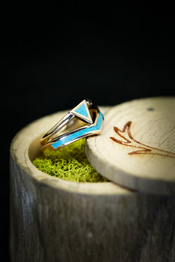 Turquoise Wedding Band Set for Women - Staghead Designs