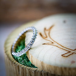 INFINITY DIAMOND WEDDING BAND (available in 14K white, rose or yellow gold) - Staghead Designs - Antler Rings By Staghead Designs