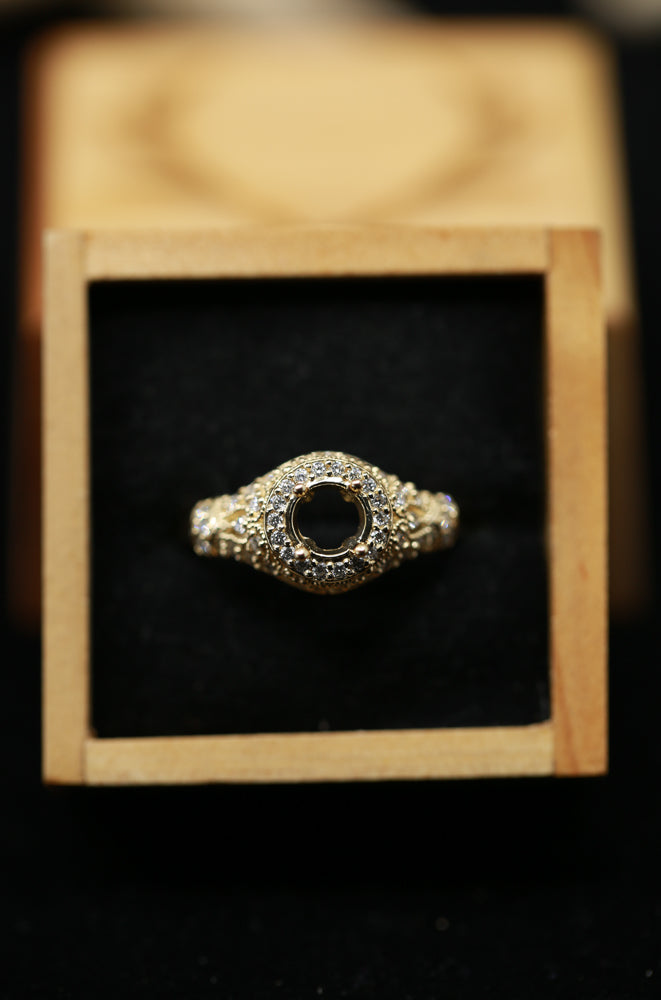 14K GOLD RING WITH 3/8ctw DIAMONDS (avail in most sizes & 14K white or yellow gold) -  Custom Rings Handcrafted By Staghead Designs