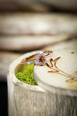 14K GOLD CITRINE STARBURST ENGAGEMENT RING - Staghead Designs - Antler Rings By Staghead Designs