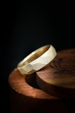 Handcrafted & Unique Gold Wedding Ring with Sandblasted Finish - Staghead Designs