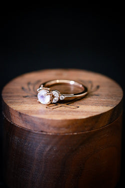 Womens Moonstone And Diamond Engagement Ring - Staghead Designs