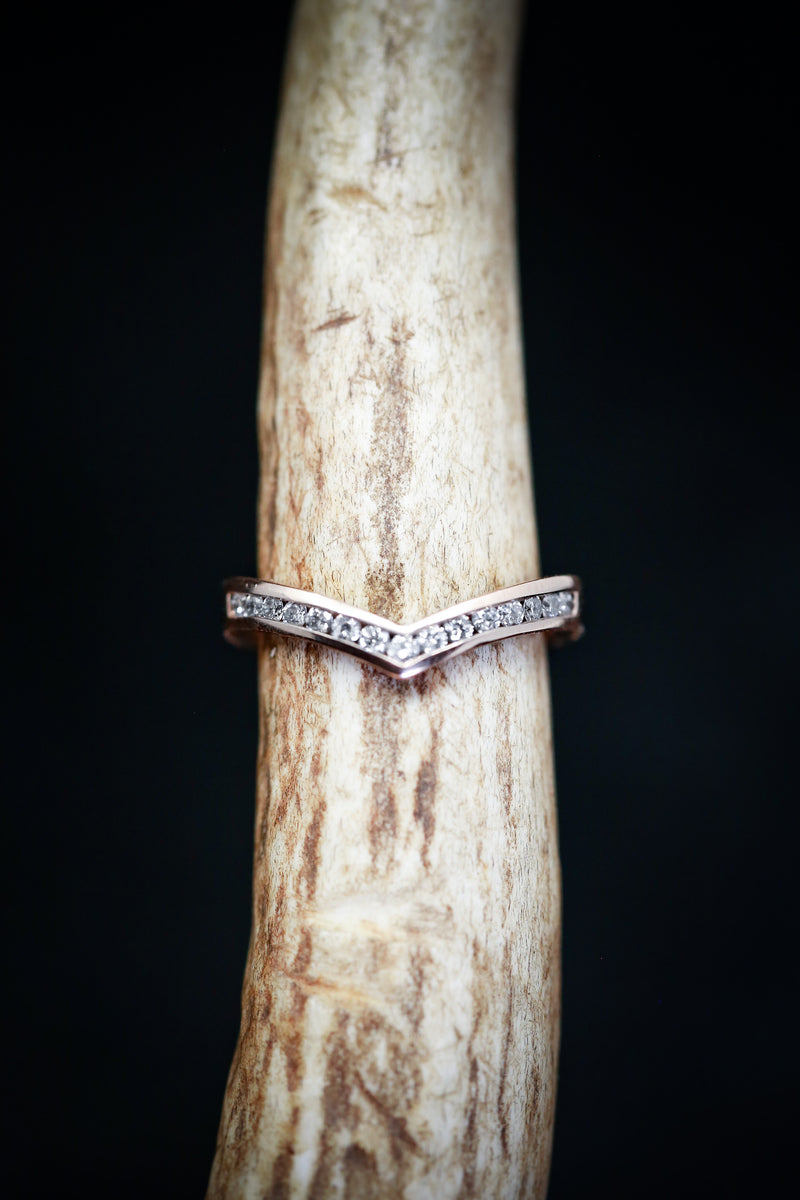 KIDA WITH DIAMONDS (available in 14K rose, white or yellow gold) -  Custom Rings Handcrafted By Staghead Designs