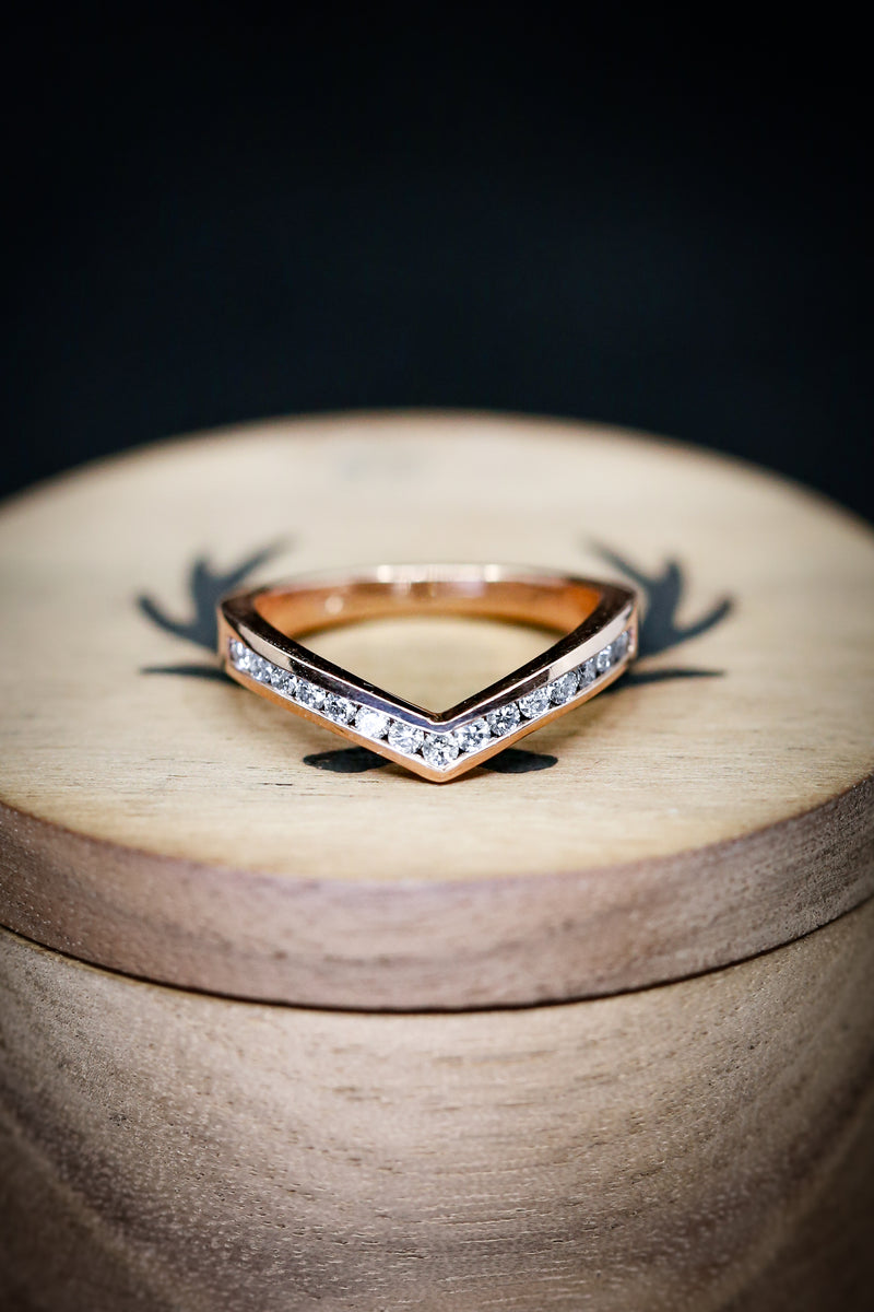 KIDA WITH DIAMONDS (available in 14K rose, white or yellow gold) - Staghead Designs - Antler Rings By Staghead Designs