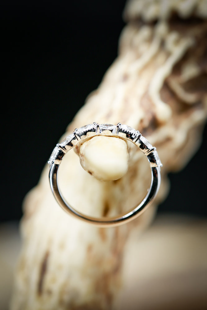 14K GOLD ANNIVERSARY STACKING BAND WITH 1/3ctw DIAMONDS (available in 14K rose, white or yellow gold) - Staghead Designs - Antler Rings By Staghead Designs