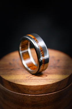 Wooden Wedding Ring - Black Wedding Ring - Staghead Designs