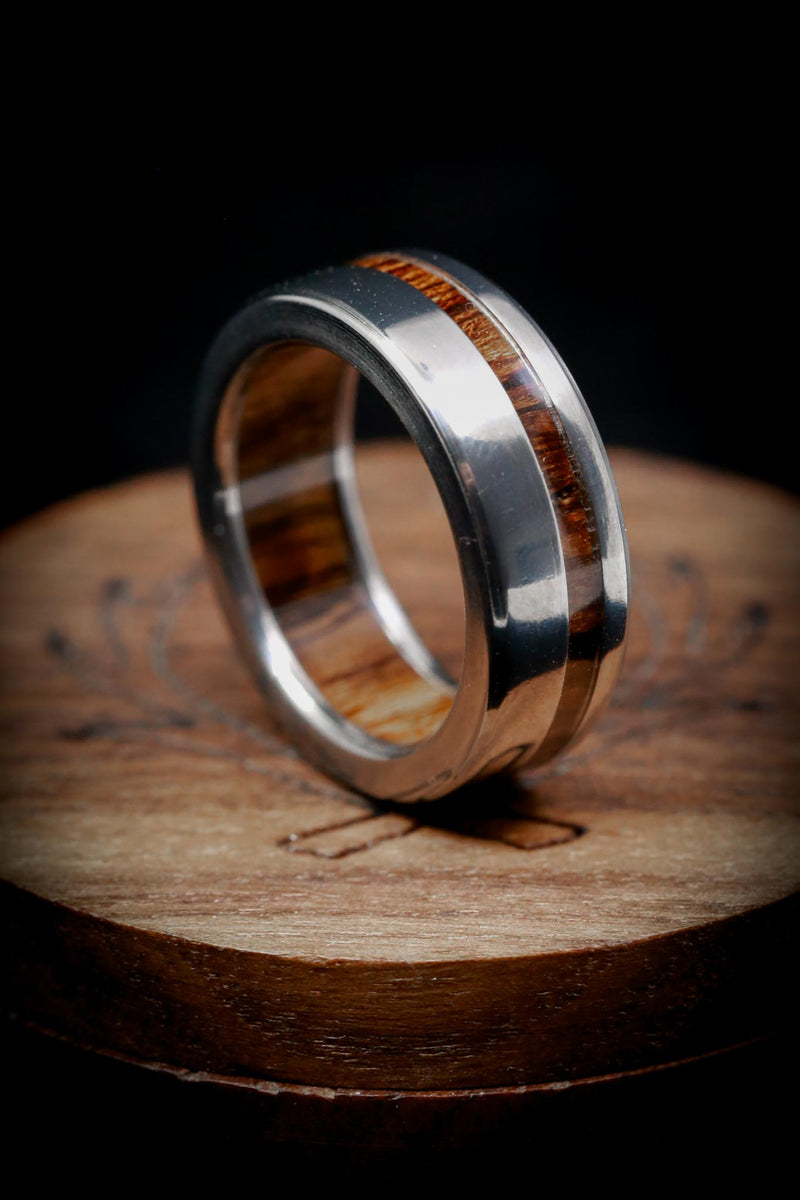 """VERTIGO"" IN WOOD LINING WITH WOOD INLAY (fully customizable)"