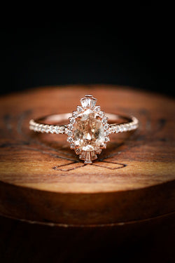 Pear Shaped Diamond Engagement Ring - Staghead Designs