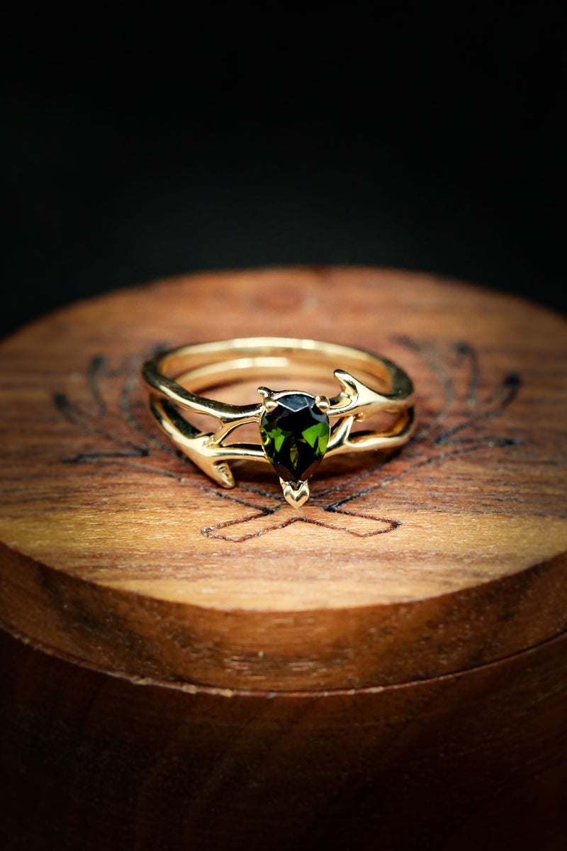Unique Engagement Ring for Women Featuring Tourmaline - Staghead Designs