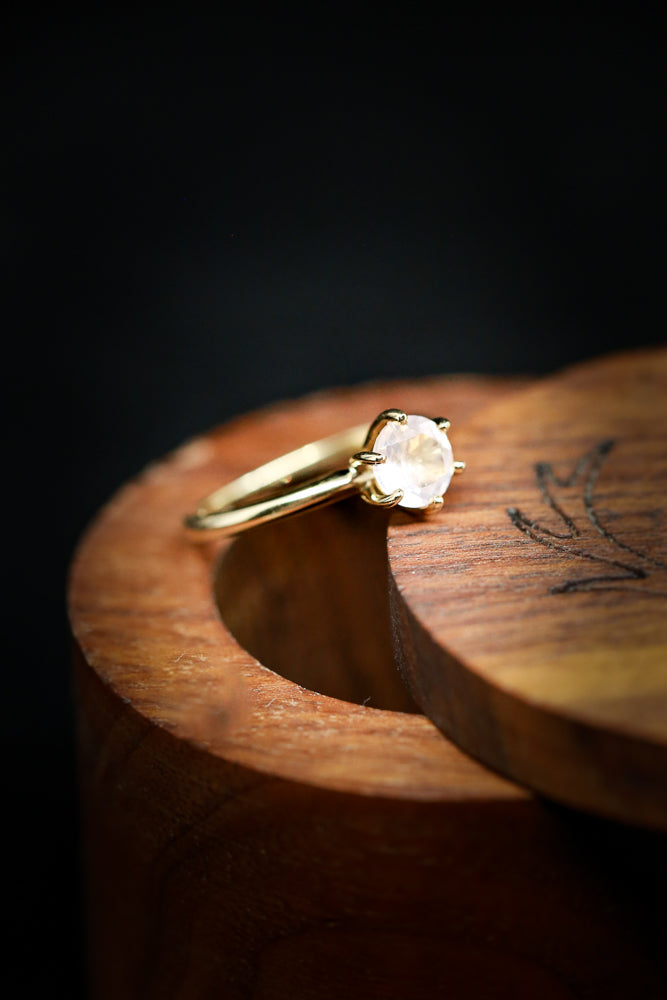 MOONSTONE SOLITAIRE ENGAGEMENT RING (fully customizable)