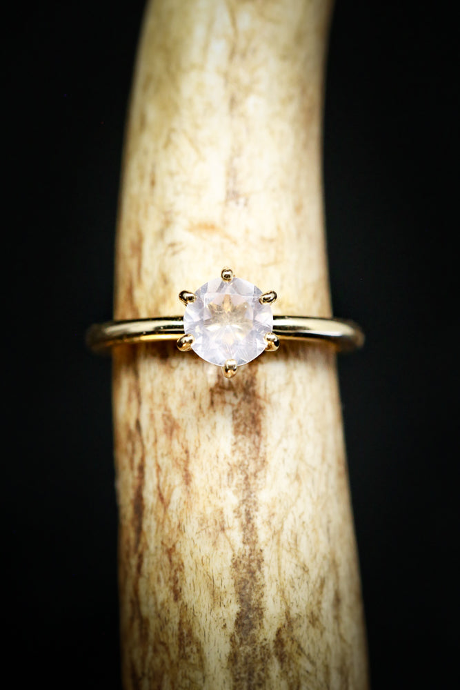 1ct MOONSTONE SOLITAIRE ENGAGEMENT RING (available in 14K rose, yellow, or white gold)
