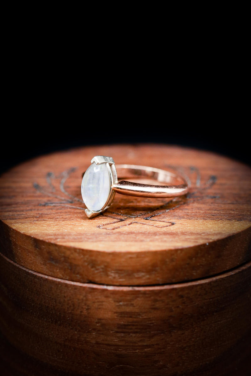 Unique Moonstone Ring - Women's Engagement Ring with Custom Stone - Staghead Designs
