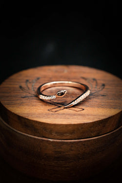14K Rose Gold Gift Ring - Anniversary Gift Ring - Snake Design Ring - Staghead Designs