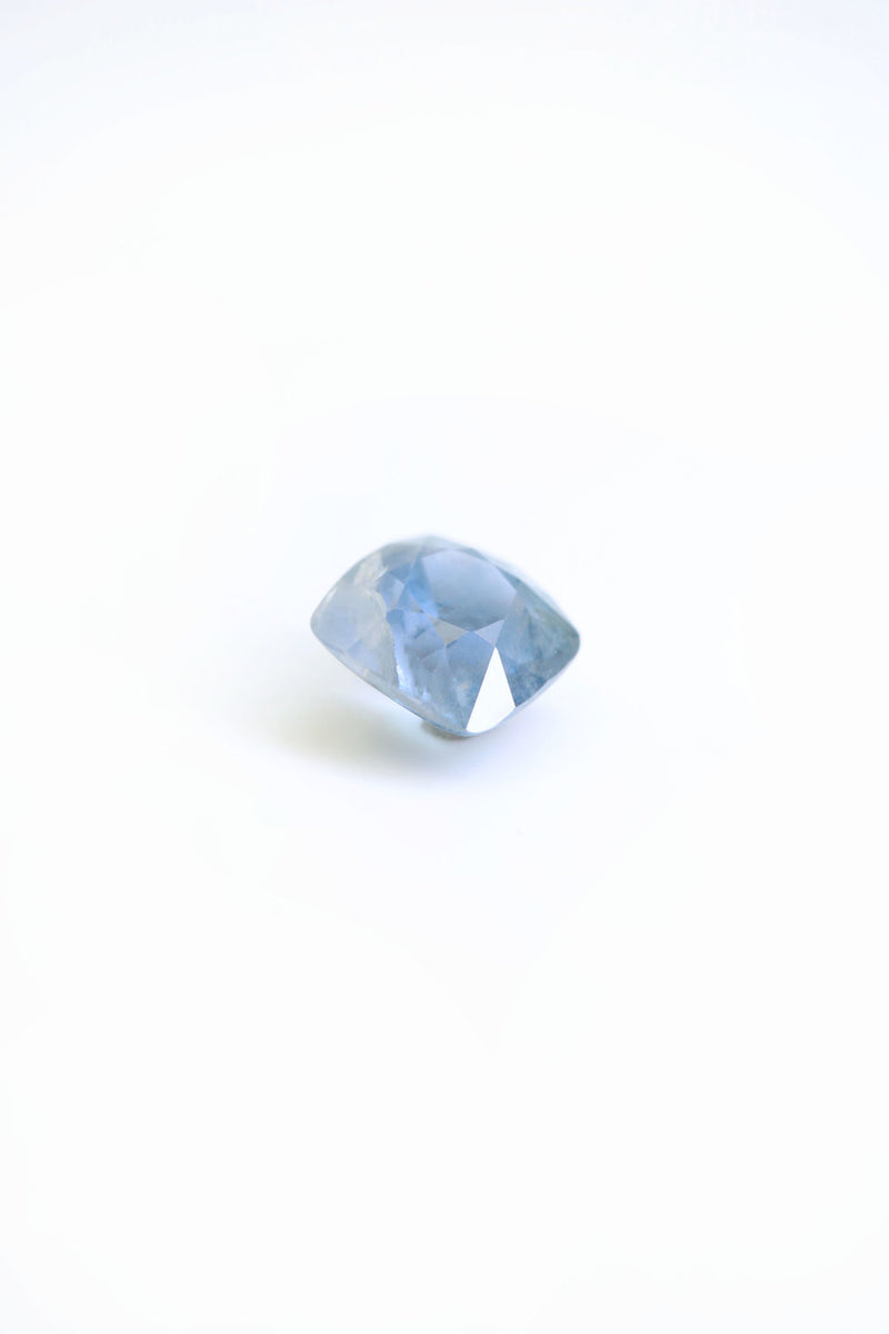 """CAPRI"" 8.3mm x 8.4mm NATURAL SAPPHIRE -  Custom Rings Handcrafted By Staghead Designs"