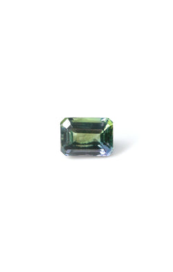 "NEW - ""PERSEPHONE"" 5.3mm x 7.4mm EMERALD CUT FANCY COLOR TANZANITE - Staghead Designs - Antler Rings By Staghead Designs"