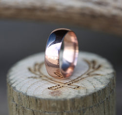 14K GOLD WEDDING BAND (available in 14K white, rose, or yellow gold) - Staghead Designs - Antler Rings By Staghead Designs