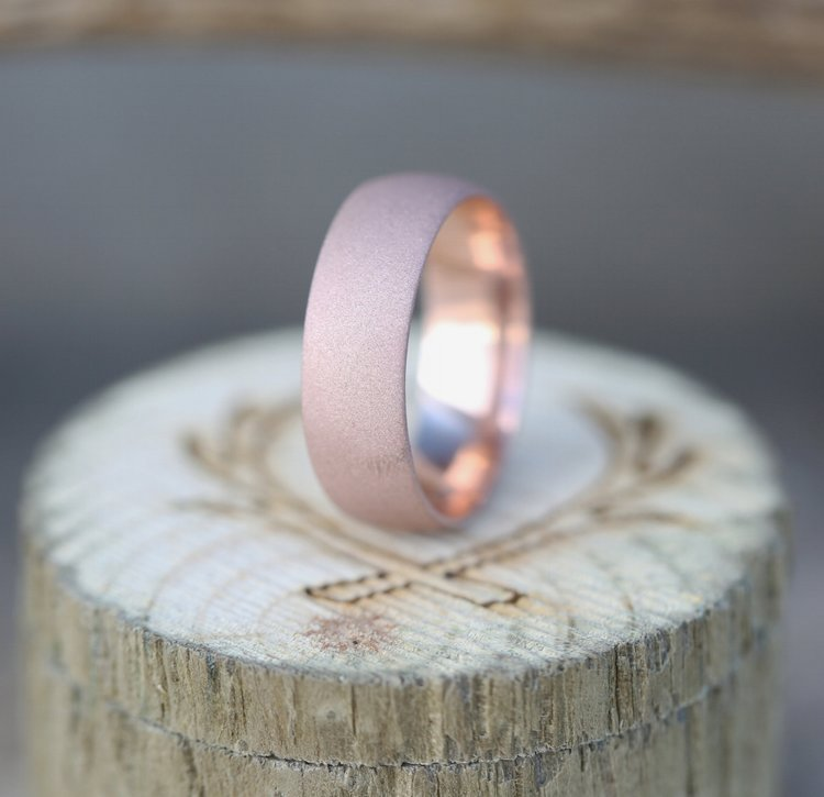 14K GOLD HAMMERED WEDDING BAND (available in 14K rose, white or yellow gold) -  Custom Rings Handcrafted By Staghead Designs