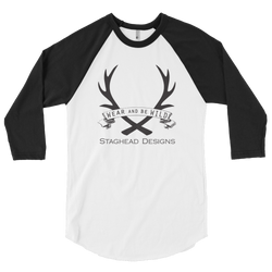 3/4 SLEEVE BASEBALL STYLE SHIRT - Staghead Designs - Antler Rings By Staghead Designs