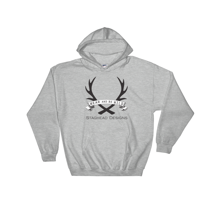 FULL LOGO HOODIE - Staghead Designs - Antler Rings By Staghead Designs