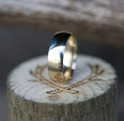 14K GOLD WEDDING BAND -  Custom Rings Handcrafted By Staghead Designs