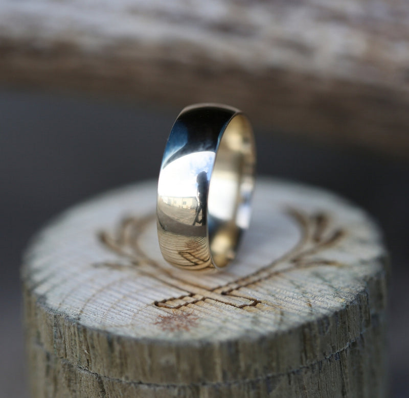14K GOLD WEDDING BAND - Staghead Designs - Antler Rings By Staghead Designs