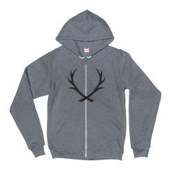 HEATHER GREY ZIP HOODIE - Staghead Designs - Antler Rings By Staghead Designs