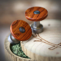 IRONWOOD CUFFLINKS (available with gold plated bases) - Staghead Designs - Antler Rings By Staghead Designs