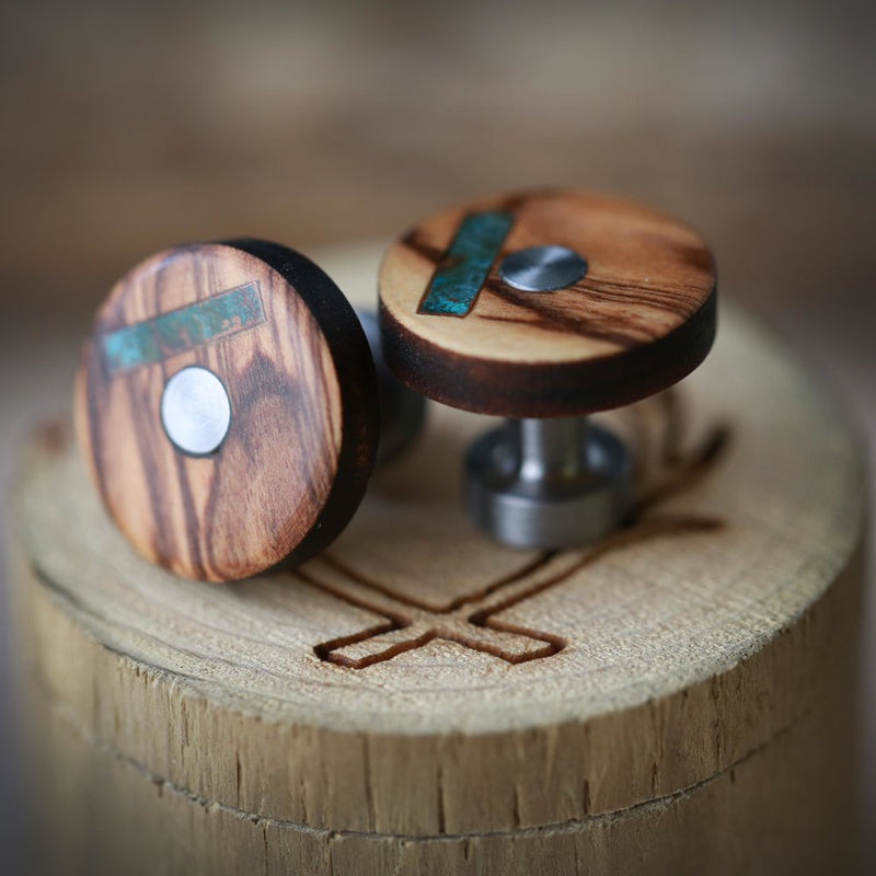 CUSTOM CUFFLINKS (designed to match any ring you choose) - Staghead Designs - Antler Rings By Staghead Designs
