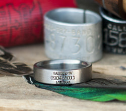 "Custom Engraved ""DUCK BAND"" Wedding Ring (available in titanium, silver & 14k gold) - Staghead Designs - Antler Rings By Staghead Designs"