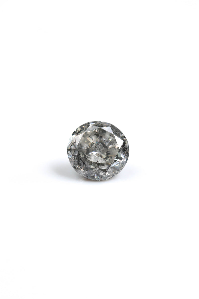 "NEW - ""Riona"" 1ct Round Salt and Pepper Diamond"
