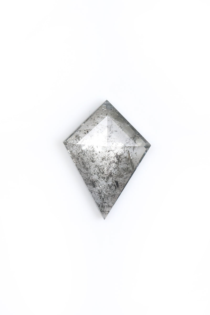 """Freya"" - Kite Cut Salt and Pepper Diamond"